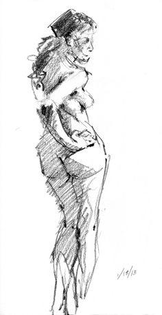 "6B pencil on Stillman & Birn Alpha Series hardbound 8.5"" x 11"" sketchbook"