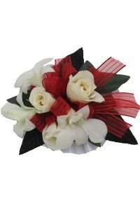 Hallu0027s Flower Shop And Garden Center   Wrist Corsage Sweetheart Rose And  Orchids, ...