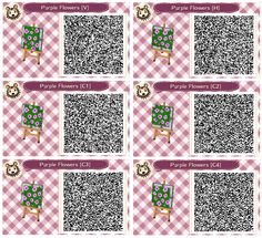 Purple Flower Beds by Quirkberry -  Animal Crossing: New Leaf
