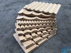 Fluted, Ribbed, Scalloped and Battened MDF panels. Panel Mdf, Mdf Wall Panels, Wood Panel Walls, Timber Panelling, Wood Paneling, Wood Wall Design, Mdf Plywood, Slat Wall, Decorative Panels