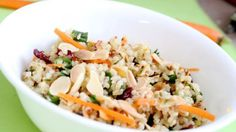 Roasted Almond and Cranberry Quinoa and Bulgur Salad- healthy and chock full of seasonal ingredients. Cranberry Quinoa Salad, Quinoa Salad Recipes, Quinoa Recipe, Kale Recipes, Vegetable Salad, Vegetable Side Dishes, Bulgur Salad, Couscous, Roasted Almonds