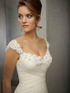 New White/Ivory Lace Wedding Dress Bridal Gown Custom Size 2 4 6 8 10 12 14 16+