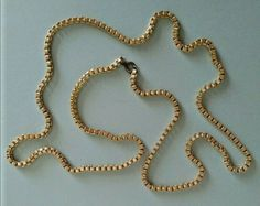 Long Gold Coloured Box Chain Necklace Costume Jewellery   A949 Jewelry Gifts, Jewellery, Color Box, Box Chain, Silver Color, Costume Jewelry, Beaded Necklace, Costumes, Pendant