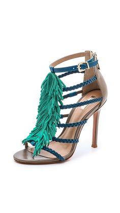 Schutz Carmen Fringe Sandals