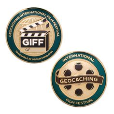 GIFF Full Size Geocoin $12.00 USD Get ready for GIFF! The 2016 Geocaching International Film Festival will be held from November 3-7 at locations throughout the world. There will be 16 finalists who will be featured during the festival, and a special digital souvenir for all that attend an event! Dimensions: Approximately 1.75 inches in diameter.