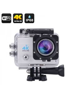 Generic Wi-Fi Waterproof Sports Action Camera - 2 Inch Lcd Display, Ultra Hd, Hdmi Out, 170 Degree Wide Angle (Silver) Bass Fishing Videos, Hunting Cameras, Sports Camera, Dashcam, Video Camera, Wide Angle, Wifi, Action, Silver