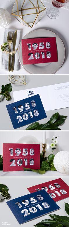 """Einladung zum Geburtstag """"Jahreszahlen"""" #Einladungskarten #Einladung #Geburtstag #Papeterie #kartenmacherei"""