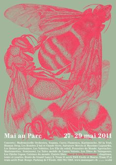 beatpie: Festival Mai au Parc Lancy Good contrast between text and image. Example of poster with a lot of copy. Graphic Design Posters, Graphic Design Inspiration, Typography Design, Web Design, Design Art, Print Design, Design Layouts, Brochure Design, Cover Design