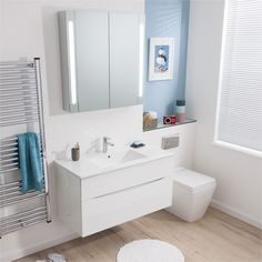 Glide II White Gloss | Bauhaus Bathrooms - Furniture, Suites, Basins - Ultimate Bathroom Solutions