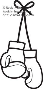 coloring pages of boxing gloves - photo#30