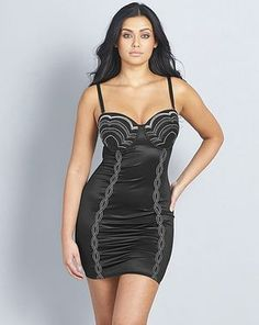 Sleek and stylish, this black and silver Wave Firm Control Slip is perfect beneath a dress or on its own. Designed to smooth your curves, it helps you achieve the ideal silhouette. Casual Dress Outfits, Trendy Dresses, Sexy Dresses, Nice Dresses, Chic Dress, Classy Dress, Shades Of Grey Book, Lavender Dresses, Lingerie Collection