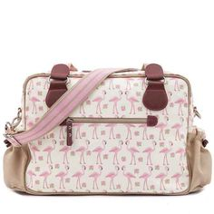 Pink Lining Not So Plain Jane Nappy Bag - Flamingo Walk http://thebabycloset.com.au/designer-nappy-bags/pink-lining-not-so-plain-jane-nappy-bag--flamingo-walk-