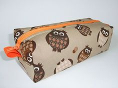 Pencil case Owls by analeith on Etsy, €13.00