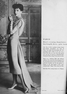 Joanna McCormick, March Vogue 1957 | Christian Dior designer