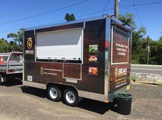 Anything you desire can be built into a mobile trailer, offer BBQ Food Trailers, Yoghurt Bars, Coffee Trailers etc Mobile Food Cart, Mobile Food Trucks, Mobile Bar, Food Truck Interior, Food Trailer For Sale, Coffee Trailer, Food Kiosk, Food Vans, Concession Trailer