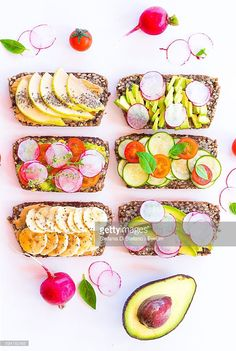 #toast #healthy #easy. Directly Above Shot Of Healthy Toast Served On White Background