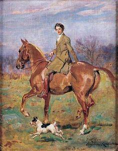 Goddess Of The (Gilded Age) Hunt // Kossak Wojciech - Miss Irene Luca, 1921