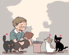 Manga Anime, Character Art, Japan, Cats, Illustration, Fictional Characters, Twitter, Gatos, Illustrations
