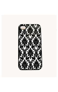 Chic Black Damask iPhone Hard Case / Fits by TheCuriousCaseLLC, $17.00