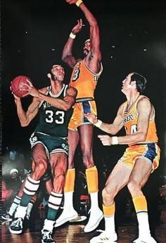 Alcindor before Kareem double-teamed by Jerry West and The Wilt