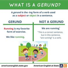 What is a GERUND? #learnenglish