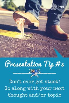 The audience doesn't know what you plan to talk about next. Make that your move if you ever get stuck! #presentation #publicspeaking #PreziFTW https://www.youtube.com/watch?v=57Z0ss-fpEQ&index=58&list=PL09A34EF19596B7BB