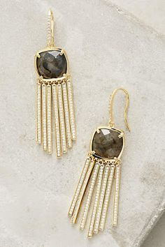 Gold earrings. Anthro maybe?