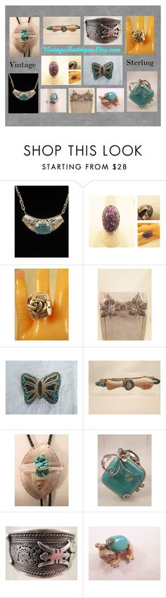 Vintage Sterling Silver Jewelry by sue-hoffman on Polyvore featuring vintage