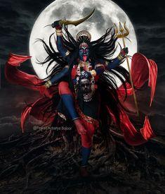 Arte Shiva, Kali Shiva, Kali Puja, Kali Hindu, Shiva Art, Hindu Art, Indian Goddess Kali, Goddess Art, Goddess Lakshmi