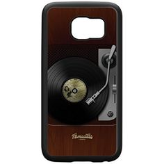 Retro Gadgets Turntable Black Silicon Rubber Case for Galaxy S6 Edge by DevilleArt   FREE Crystal Clear Screen Protector -- Check out this great product. (This is an affiliate link) #CasesHolstersClips