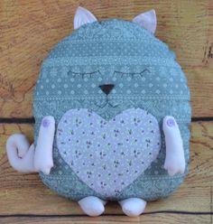 Купить Кот-сплюшка. Подушка - серый, кот в подарок, кот подушка, подушка кот