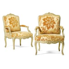 A pair of carved giltwood armchairs attributed to Louis CressonLouis XV, mid 18th Century| Sotheby's