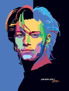 WPAP Jon Bon Jovi by wedhahai.deviantart.com on @deviantART