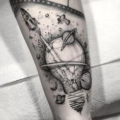 Forarm Tattoos, Body Art Tattoos, Small Tattoos, Tattoos For Guys, Tattoos For Women, Tattoo Ink, Tatoos, Outer Space Tattoos, Tattoos Masculinas