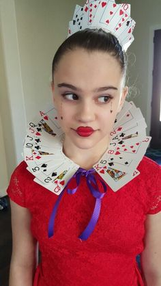 queen of hearts costume homemade