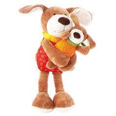 sigikid - Kuschelduo - Hunde  - Größe: 23 cm  - Obermaterial: Baumwolle, Microfaserplüsch  - Füllung: Polyesterwatte  - waschbar bei 30°  - geeignet für Kinder ab +0 Monaten
