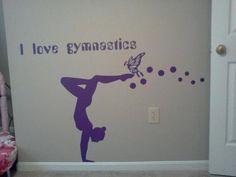 Wall Decals Girl Gymnast Sport Ballet Gym Vinyl Sticker Murals Wall