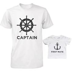 Captain And First Mate Matching Shirts Father And Son Outfits Father's Day Gift