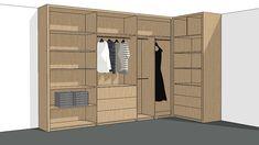 Maatwerk ontwerp voor meubels in 3D   Interieur design by nicole & fleur Tall Cabinet Storage, Locker Storage, Closet Organization, Lockers, New Homes, Furniture, Design, Home Decor, Decoration Home
