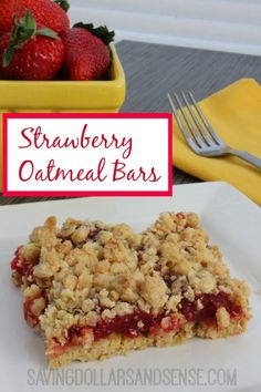 These Strawberry Oatmeal Bars are the perfect springtime recipe.