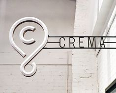 Beveled logomark in blade sign // Crema by Sideshow Sign Co.