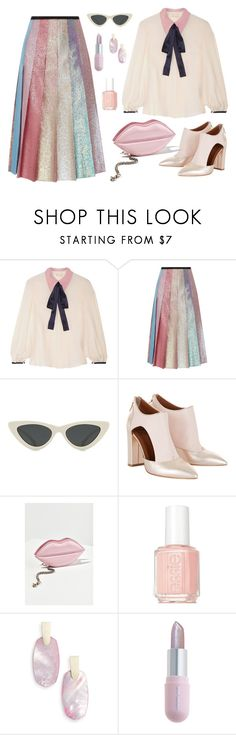 """""""Untitled #2537"""" by ebramos ❤ liked on Polyvore featuring Roksanda, Gucci, Le Specs, Urban Outfitters, Essie, Kendra Scott and Winky Lux"""