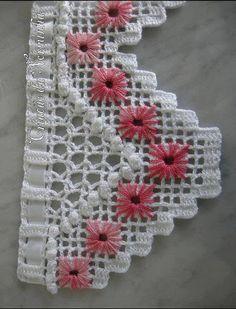 Barrado de crochê muito bonito