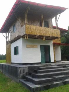A rural clinic made from earth, bamboo and jute in Faridpur, Bangladesh.