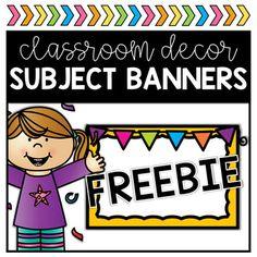 Classroom Banners FREEBIE