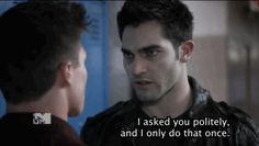 """But he does TRY to make his threats polite, sometimes. 