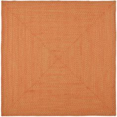 Zoomed: Safavieh 6' x 6' Orange Braids Area Rug