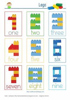 LEGO - Grundkonstruktionen, - New Ideas Lego Kindergarten, Preschool Learning, Toddler Activities, Preschool Activities, Kids Printable Activities, Shape Activities, Dinosaur Activities, Numbers Preschool, Teaching