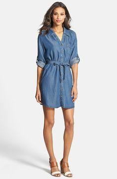 Velvet Heart 'Erin' Pin Dot Shirtdress available at #Nordstrom