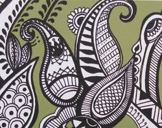 Green Henna Art Print from shopolio etsy